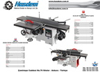 HMD 108 PLANYA MAKİNASI - PLANING MACHINE